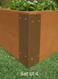 Merveilleux Amazon.com: Raised Garden Bed Corner Brackets   For 12H Beds: Patio,