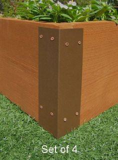 Amazon.com: Raised Garden Bed Corner Brackets - For 12H Beds: Patio, Lawn & Garden