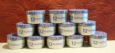 Set of 12 HoliDays Tevana Empty Tea Tins Storage Herbs Spices Craft Sew Organize #Tevana #Holiday