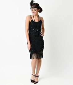 A dash of deco interwoven with magnificent modern style, this fresh flapper is a sequin and twee beaded crepe set agains...Price - $72.00-ClPDPvzh