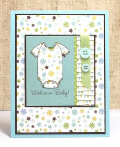 Baby Card Welcome Baby Boy New baby Baby Onesie by doodleshop