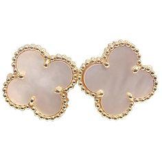 VAN CLEEF & ARPELS Alhambra Vintage Mother of Pearl Earrings