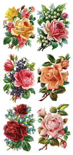30 Ideas flower tattoo vintage decoupage for 2019 Floral Vintage, Vintage Diy, Vintage Cards, Vintage Flowers, Vintage Paper, Vintage Prints, Vintage Images, Vintage Blume Tattoo, Vintage Flower Tattoo