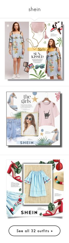 """shein"" by ainzme ❤ liked on Polyvore featuring Silhouette, Lime Crime, Les Petits Joueurs, Madewell, Noir Jewelry, Frances Valentine, Paul Andrew, Thalia Sodi, Maison Michel and Altuzarra"