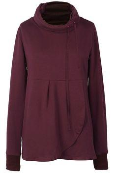 Cupshe Whispers In the Dark Pleated Sweatshirt