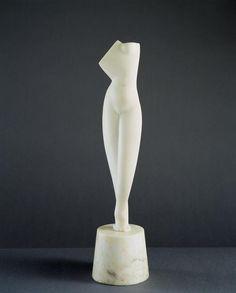 Torso, Marble by Alexander Porfiryevich Archipenko (1887-1964, Ukraine)