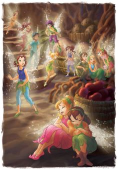 Fairies and sparrow men including Myra, Bess & Prilla keeping safe in the Root Cellar during a thunderstorn. Disney Images, Disney Art, Disney Movies, Walt Disney Princesses, Disney Fairies, Disney And Dreamworks, Disney Pixar, Rapunzel Eugene, Aladdin Et Jasmine