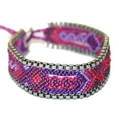 Azuni Dark Purple Macrame Friendship Bracelet