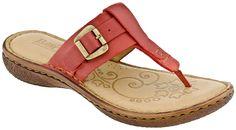BORN Lory  Paloma Red Leather Flat Thong Sandals B52205 NIB Womens Sz 8 / EUR 39