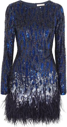 Matthew Williamson Feather-trimmed sequined mini dress and other apparel, accessories and trends. Browse and shop 18 related looks. Blue Sequin Dress, Sequin Cocktail Dress, Short Cocktail Dress, Embellished Dress, Cocktail Dresses, Matthew Williamson, Marine Uniform, Feather Dress, Gypsy Fashion