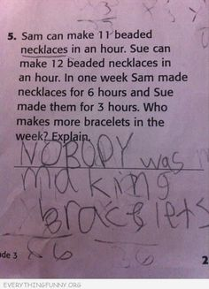 This kid is going places. Its funny because you can see he did the math but then erased it lol Funny Test Answers, Grammar Humor, Math Humor, Def Not, Lol, I Love To Laugh, Teacher Humor, Math Teacher, Teacher Stuff