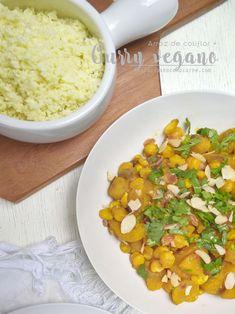 Curry vegano + arroz de coliflor