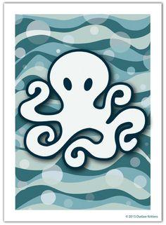Octopus Ocean 5 x 7 Print