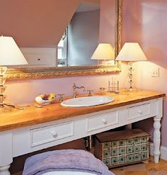 Repurposing Furniture Into Bathroom Vanities