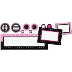 Give you room a bit of class with Pink and Black Parisian Create And Decorate Bulletin Board Set!