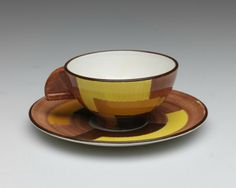 RISD Museum #MuseumWorldCup: Eva Alexandrovina Polanyi Stricker. Hungarian, 1906 - 2011. Schramberg Majolica Factory, manufacturer, German, 1820-1989. Breakfast set (partial), ca. 1928-1930. Glazed earthenware. Gift of Glenn Gissler 2011.57.3