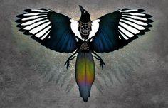 MAGPIE OTHERWORLD  Nordic Bird Viking Celtic Color Sparkle