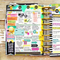 painty May weekly spread in the Happy Planner of mambi Design Team member Stephanie Buice Planner Layout, Planner Pages, Blog Planner, Printable Planner, Planner Stickers, Planner Ideas, Printables, Weekly Planner, Planer Organisation