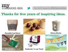 My Starbucks Idea: 5 Years Of Inspiring Ideas