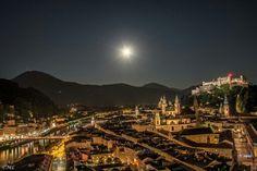 Salzburgin einer Vollmondnacht im Sommer 2015 Quelle: SN.at