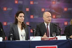 LSE hosted the First Secretary of State William Hague and UNHCR Special Envoy Angelina Jolie Pitt for the launch of the UK's first academic Centre on Women, Peace and Security, to be based at the School. The centre will be led by Professor Christine Chinkin in the newly established Institute of Global Affairs.