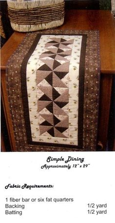 table runner quilt by Angie Desmarais