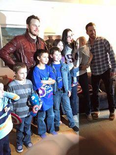 Chris Pratt Fulfills Super Bowl Bet With Chris Evans, Visits Boston Kids Dressed As Star-Lord [Photos]