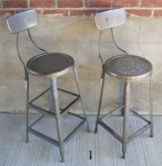 Vintage stool industrial style on casters | Vintage Industrial and Metals : vintage metal stool - islam-shia.org
