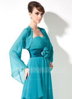 Long Sleeve Chiffon Special Occasion Wrap (013012267)