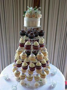 ~Ivory Wedding Cupcake Tower