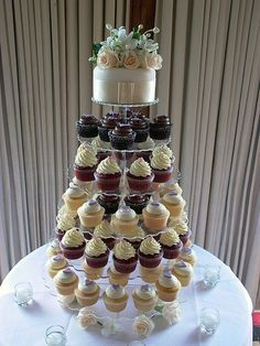 ~Ivory Wedding Cupcake Tower