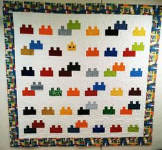Lego Quilt and Christmas Quilt