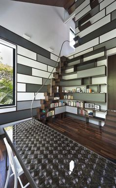 Situated in #Singapore, this #contemporary two-storey residence was designed by A D Lab.