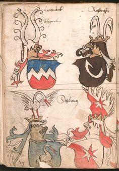 Wernigeroder (Schaffhausensches) Wappenbuch Süddeutschland, 4. Viertel 15. Jh. Cod.icon. 308 n  Folio 102v