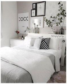 Bedroom decor - So ta aq por causa da cama cottagebedroom Room Ideas Bedroom, Home Decor Bedroom, Modern Bedroom, Contemporary Bedroom, Master Bedroom, Nursery Ideas, Ikea Bedroom, Bedroom Furniture, Marble Bedroom