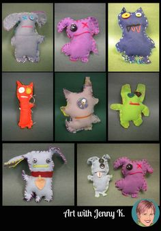 """Sewing with your students can be a lot of fun. This sewing monsters / ugly dolls lesson will interest even the boy students in your class. Use this along with writing stories about their """"dolls"""" for the perfect art integration lesson!"""