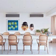 On instagram by design_e_comportamento  #homedesign #metsuke (o)  http://ift.tt/1TdgaA5  Tem mais a cara de Pernambuco do que esta sala de jantar? Como nosso coração é parte pernambucano esta sala pareceu familiar... #decor #luxury #luxo  #homedecor #decor #mesa #table #chair #cadeira