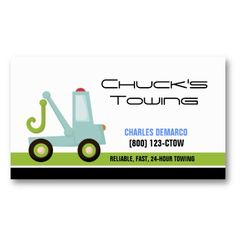 Cute Design Designs Tow Truck Kids Crafts Business Cards Bee