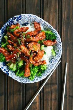 Easy Garlic Ginger Glazed Sticky Pork is tender strips of pork glazed with an easy sticky, sweet, spicy, garlicky, gingery sauce. Spicy Dishes, Pork Dishes, Stir Fry Recipes, Cooking Recipes, Pork Stirfry Recipes, Cooking Tips, Sticky Pork, Asian Recipes, Healthy Recipes