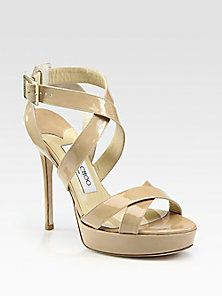 65bce93df62 Jimmy Choo - Patent Leather Sandals Most Comfortable Shoes