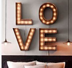 DIY: Marquee lights
