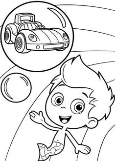 Gil Want To Have A Car In Bubble Guppies Coloring Page : Coloring Sun Coloring Sheets, Coloring Pages For Kids, Bubble Guppies Coloring Pages, Android Tab, Guppy, Online Coloring, Car Ins, Kids Learning, Bubbles
