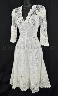 CROCHE DA ANJINHA: Vestido de croche