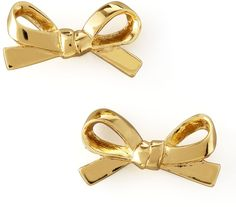 kate spade new york Mini Bow Stud Earrings, Gold  #jewelry #style #shopping
