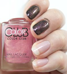 Color Club - Bright Lights, Big City (shown here over bare nails and over black)