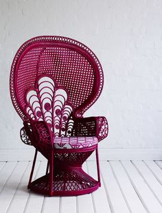 Pink Peacock Chair