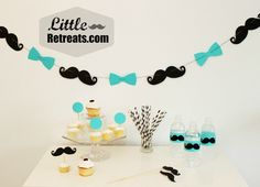 mustache bowtie garland | Mustaches and Bow Ties Galore!