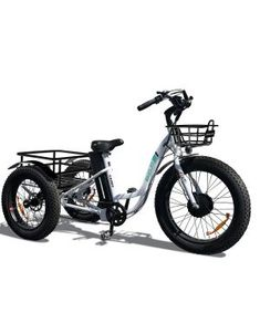 Addmotor Motan Electric Tricycle 24 Inch Fat Tire Electric Trike 3 Big Wheel Rear Basket Cargo Ebikes Lithium Battery for Adults Seniors Bicycle Cruise With Supension Fork(Black) Best Electric Bikes, Electric Tricycle, Electric Scooter, Electric Bike Motor, Adult Tricycle, Electric Skateboard, Thing 1, 3rd Wheel, Bicycle