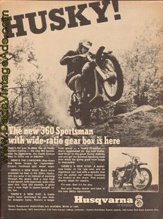1969 Husqvarna 360 Sportsman with wide-ratio gear box is here
