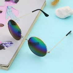 Gold Frame Colorful Sunglasses